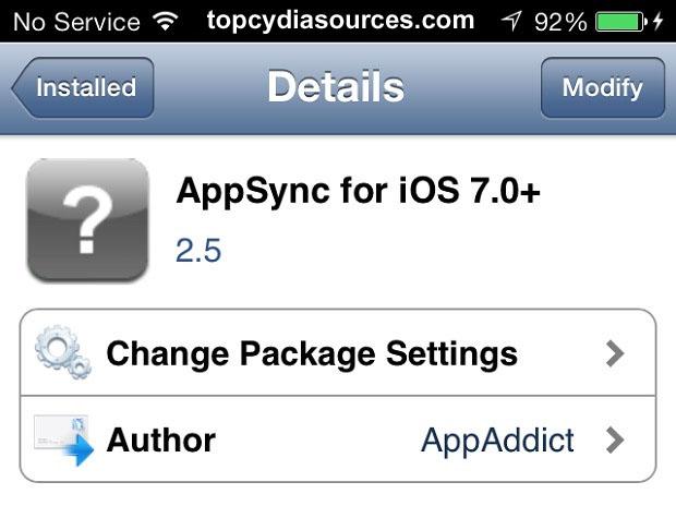 AppSync iOS 7