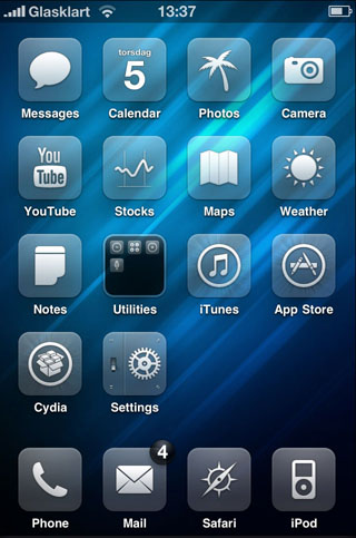Glasklart HD theme