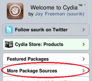 default Cydia sources