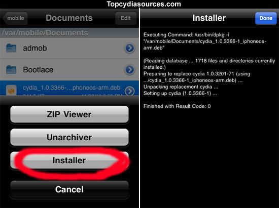 Download Cydia iPhone 4