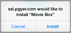 install Movie Box without jailbreak