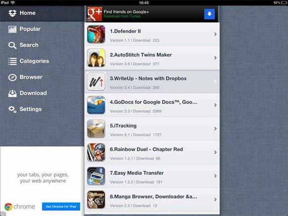 AppCake on iPad