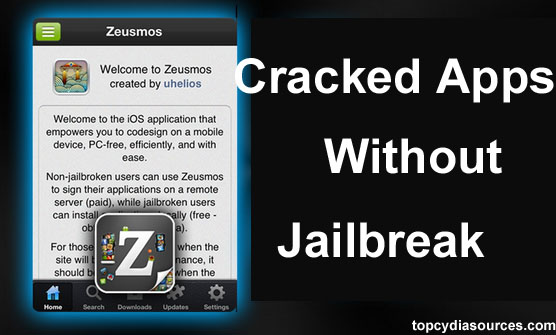 Zeusmos cracked apps without jailbreak