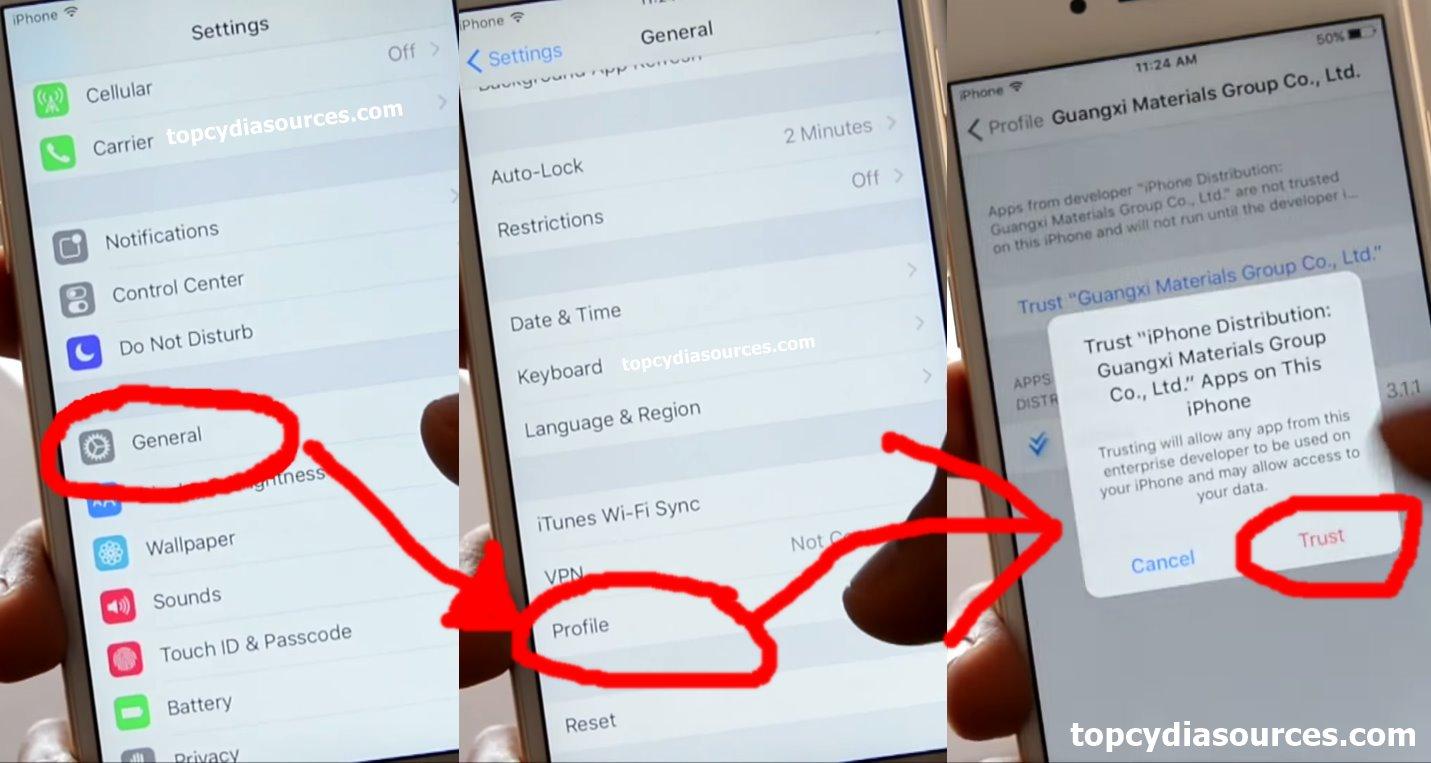 vShare iOS 9 trust